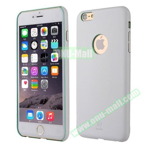 Baseus iPhone 6 Plus Ultra-slim Plastic Leather Coated Case (White)
