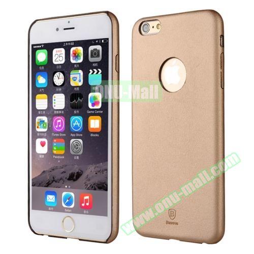 Baseus iPhone 6 Plus Ultra-slim Plastic Leather Coated Case (Gold)