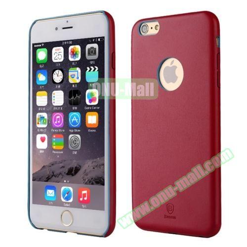 Baseus iPhone 6 Plus Ultra-slim Plastic Leather Coated Case (Wine Red)