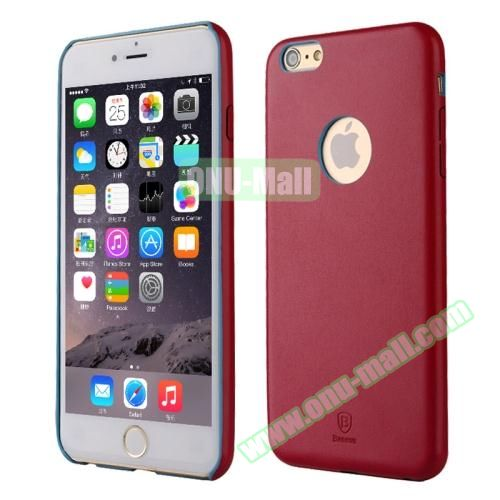 Baseus iPhone 6 Ultra-slim Plastic Leather Coated Case (Wine Red)