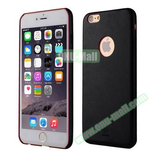 Baseus iPhone 6 Plus Ultra-slim Plastic Leather Coated Case (Black)