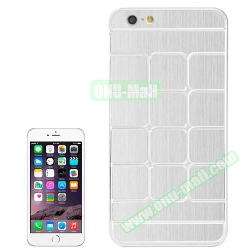 Brushed Texture Grid Dents Pattern Plastic Hard Case for iPhone 6 Plus (White)