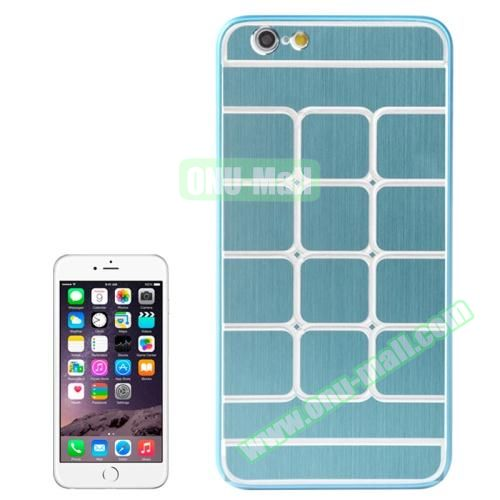Brushed Texture Grid Dents Pattern Plastic Hard Case for iPhone 6 Plus (Blue)