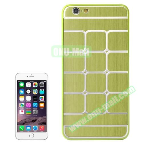 Brushed Texture Grid Dents Pattern Plastic Hard Case for iPhone 6 4.7 inch (Green)
