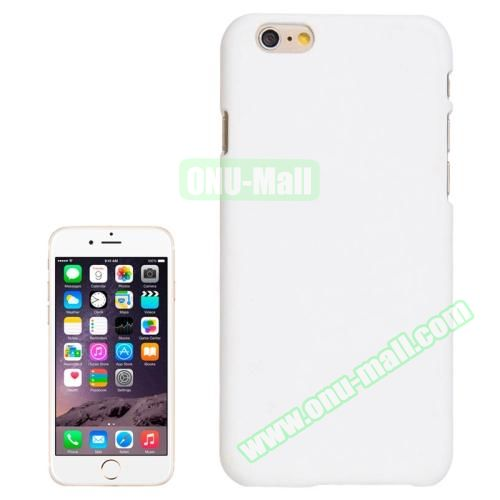 UV Coating Thin Protective Hard Case for iPhone 6 Plus (White)