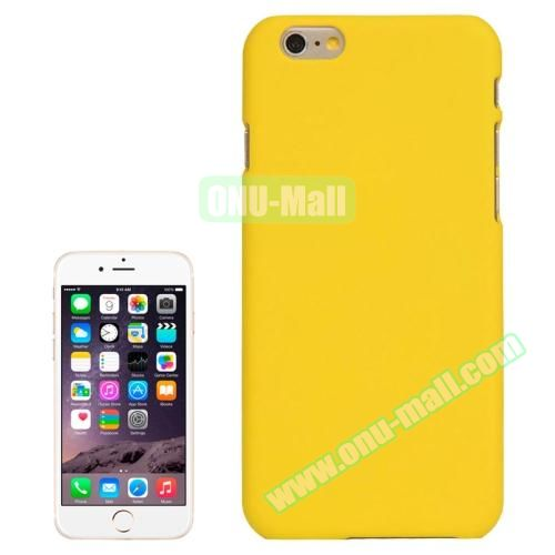 UV Coating Thin Protective Hard Case for iPhone 6 4.7 inch (Yellow)