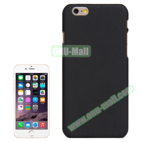 UV Coating Thin Protective Hard Case for iPhone 6 Plus (Black)