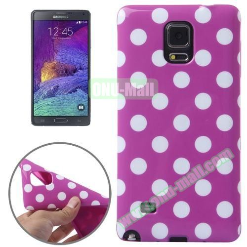 Colorful Dot Pattern TPU Case for Samsung Galaxy Note 4 (Purple Grounding)