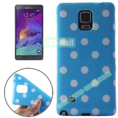 Colorful Dot Pattern TPU Case for Samsung Galaxy Note 4 (Blue Grounding)