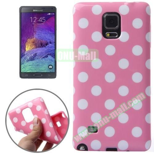 Colorful Dot Pattern TPU Case for Samsung Galaxy Note 4 (Pink Grounding)