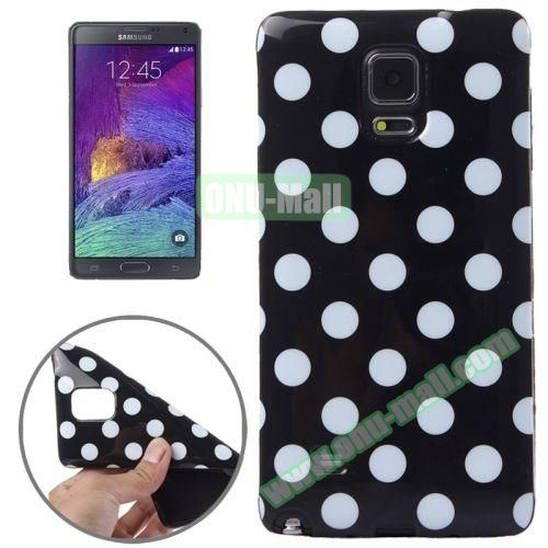 Colorful Dot Pattern TPU Case for Samsung Galaxy Note 4 (Black Grounding)
