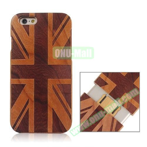 Separable Bamboo Case For iPhone 6 Plus (UK Flag Pattern)