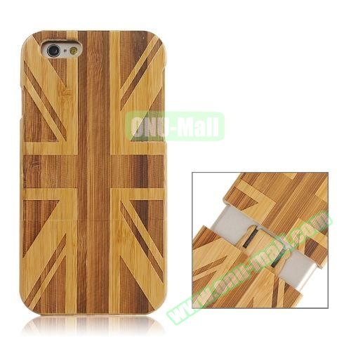Separable Bamboo Case For iPhone 6 Plus (Light UK Flag Pattern)