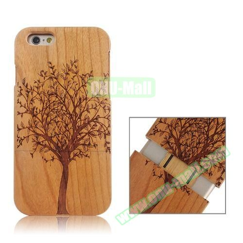 Separable Bamboo Case For iPhone 6 Plus (Tree Pattern)