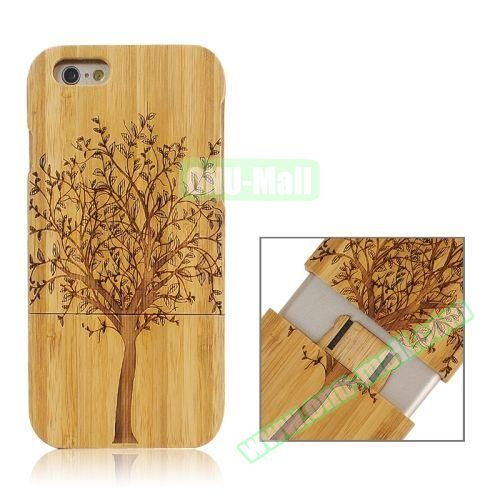Separable Bamboo Case For iPhone 6 Plus (Light Tree Pattern)