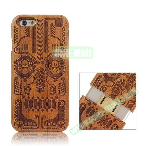 Separable Bamboo Case For iPhone 6 Plus (Tribal Pattern)