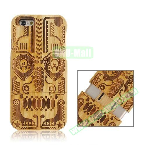 Separable Bamboo Case For iPhone 6 Plus (Light Tribal Pattern)