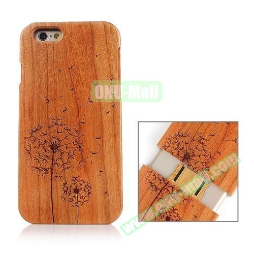 Separable Bamboo Case For iPhone 6 Plus (Dandelion Pattern)