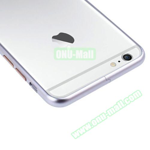 Arc Edge Aluminium Metal Bumper Frame Case For iPhone 6 (Silver)