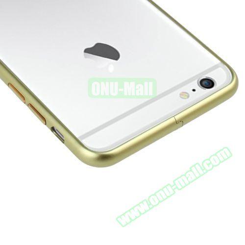 Arc Edge Aluminium Metal Bumper Frame Case For iPhone 6 (Yellow)