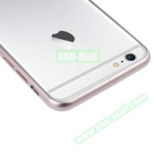 Arc Edge Aluminium Metal Bumper Frame Case For iPhone 6 (Pink)