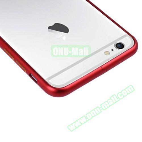 Arc Edge Aluminium Metal Bumper Frame Case For iPhone 6 (Red)