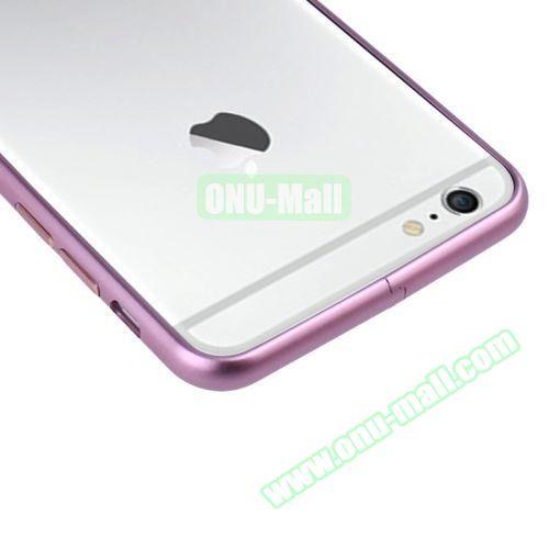 Arc Edge Aluminium Metal Bumper Frame Case For iPhone 6 (Purple)