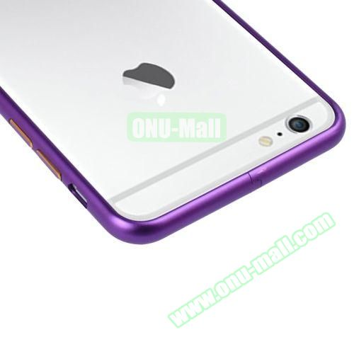 Arc Edge Aluminium Metal Bumper Frame Case For iPhone 6 (Dark Purple)