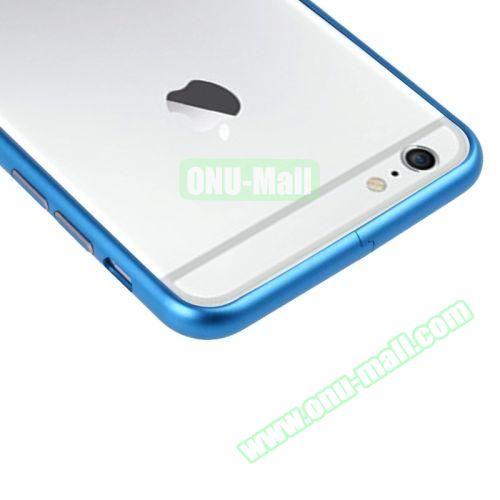 Arc Edge Aluminium Metal Bumper Frame Case For iPhone 6 (Blue)