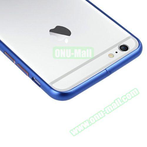 Arc Edge Aluminium Metal Bumper Frame Case For iPhone 6 (Dark Blue)