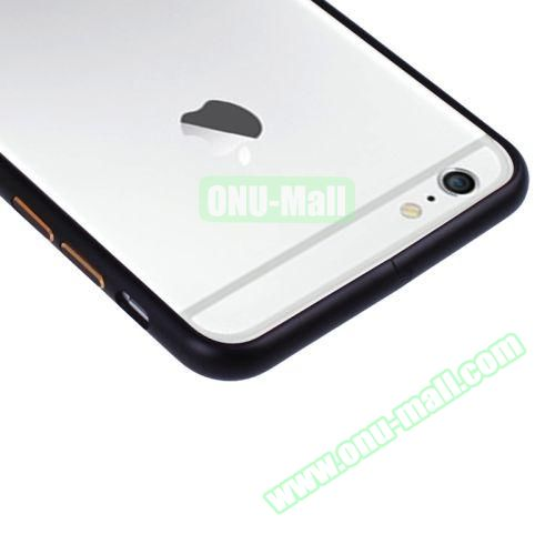Arc Edge Aluminium Metal Bumper Frame Case For iPhone 6 (Black)
