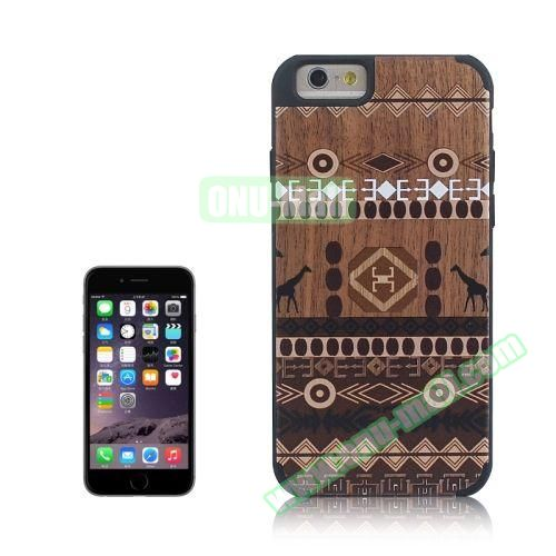 Tribal Style Ethnic Design Wood Paste Plastic Case for iPhone 6 4.7 inch (Design 1)