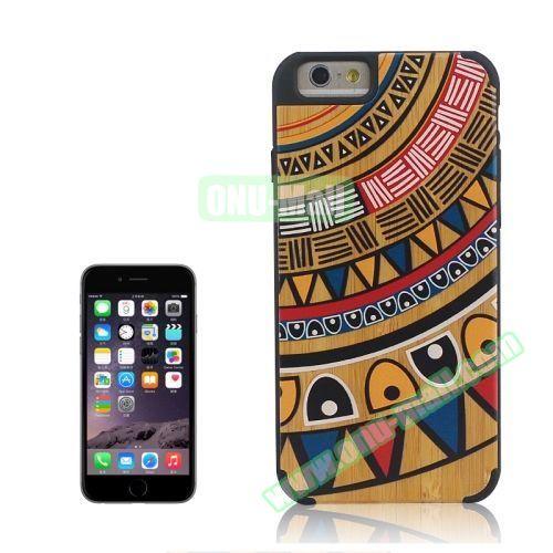 Tribal Style Ethnic Design Wood Paste Plastic Case for iPhone 6 Plus (Design 2)