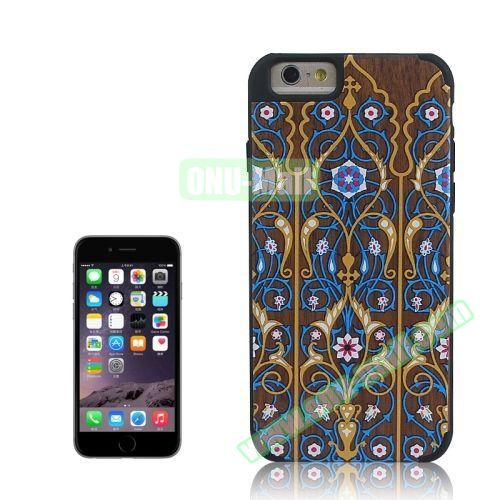 Tribal Style Ethnic Design Wood Paste Plastic Case for iPhone 6 4.7 inch (Design 3)