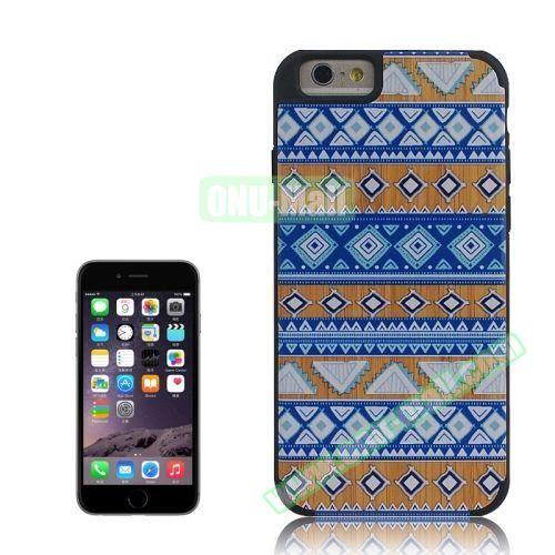 Tribal Style Ethnic Design Wood Paste Plastic Case for iPhone 6 Plus (Design 4)