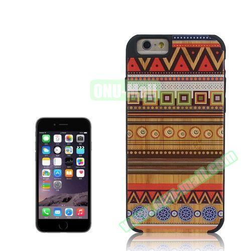 Tribal Style Ethnic Design Wood Paste Plastic Case for iPhone 6 Plus (Design 5)