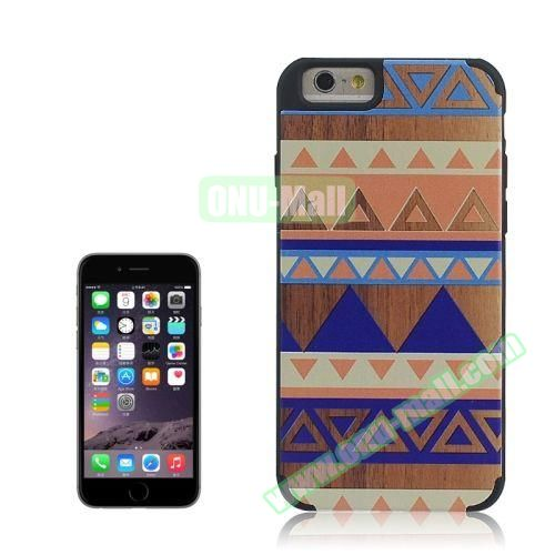 Tribal Style Ethnic Design Wood Paste Plastic Case for iPhone 6 4.7 inch (Design 7)
