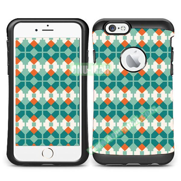 VERUS Colorful Pattern TPU + PC Hybrid Protective Case for iPhone 6 4.7 (Lucie)