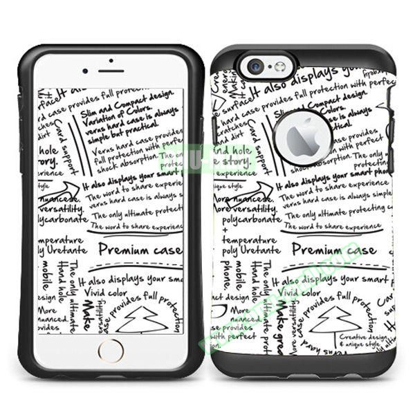 VERUS Colorful Pattern TPU + PC Hybrid Protective Case for iPhone 6 4.7 (DOODLE)