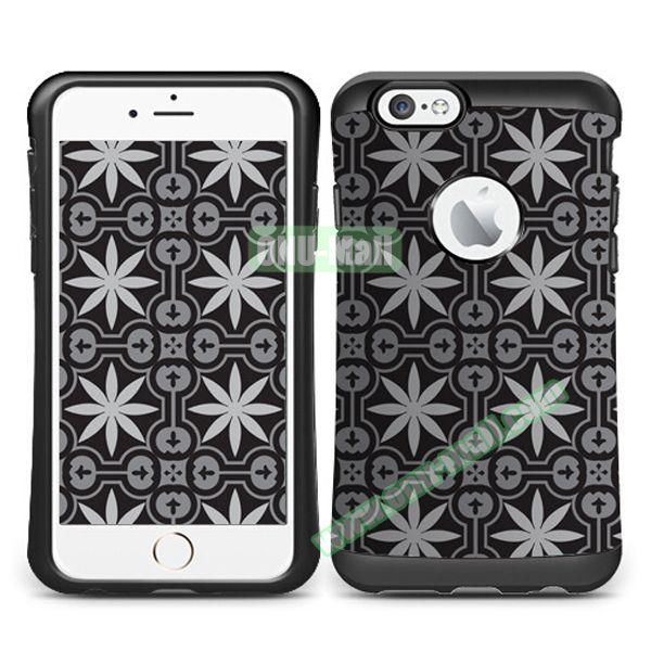 VERUS Colorful Pattern TPU + PC Hybrid Protective Case for iPhone 6 4.7 (RUGS)