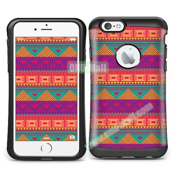 VERUS Colorful Pattern TPU + PC Hybrid Protective Case for iPhone 6 4.7 (COLORFUL)