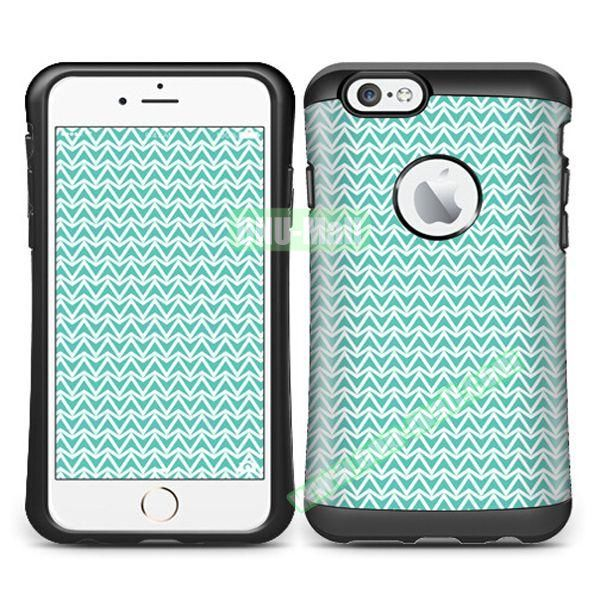 VERUS Colorful Pattern TPU + PC Hybrid Protective Case for iPhone 6 4.7 (STRAIT)