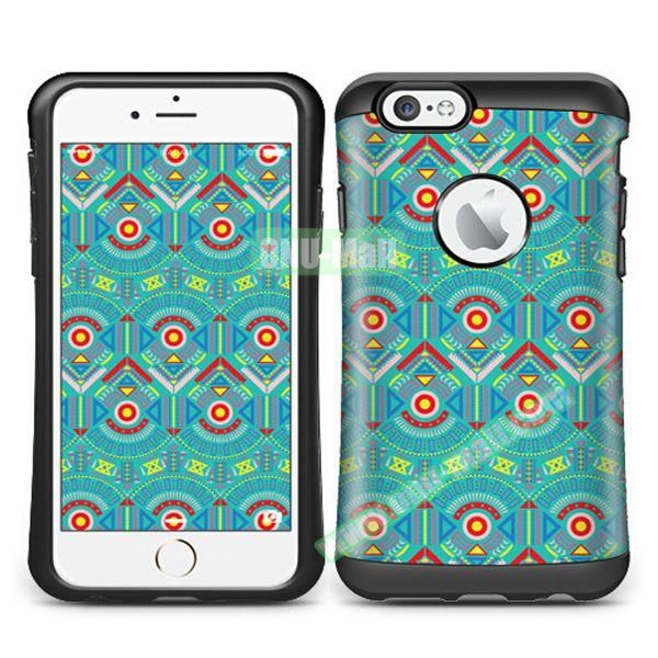 VERUS Colorful Pattern TPU + PC Hybrid Protective Case for iPhone 6 4.7 (GEOMETRIC)