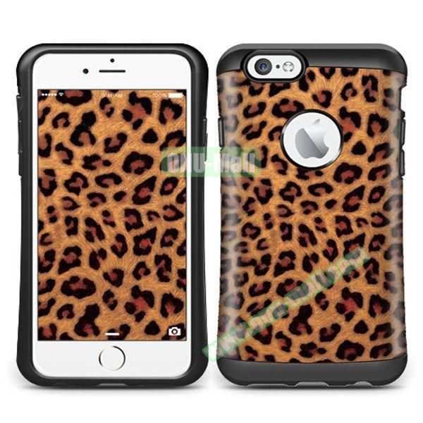 VERUS Colorful Pattern TPU + PC Hybrid Protective Case for iPhone 6 4.7 (Leopard)