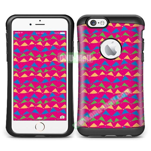 VERUS Colorful Pattern TPU + PC Hybrid Protective Case for iPhone 6 4.7 (Moloch 2)