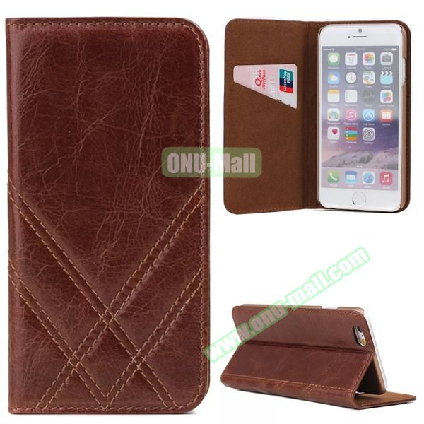 Internema Pattern Genuine Leather Case for iPhone 6 Plus inch with Card Slot