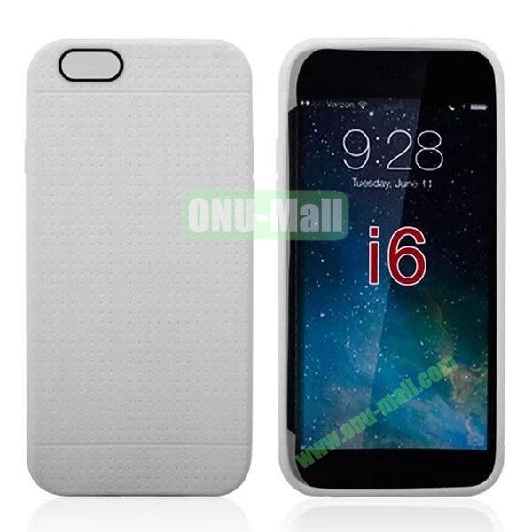 Hot Sale Honeycomb Holes Design TPU Case for iPhone 6 4.7 inch (White)