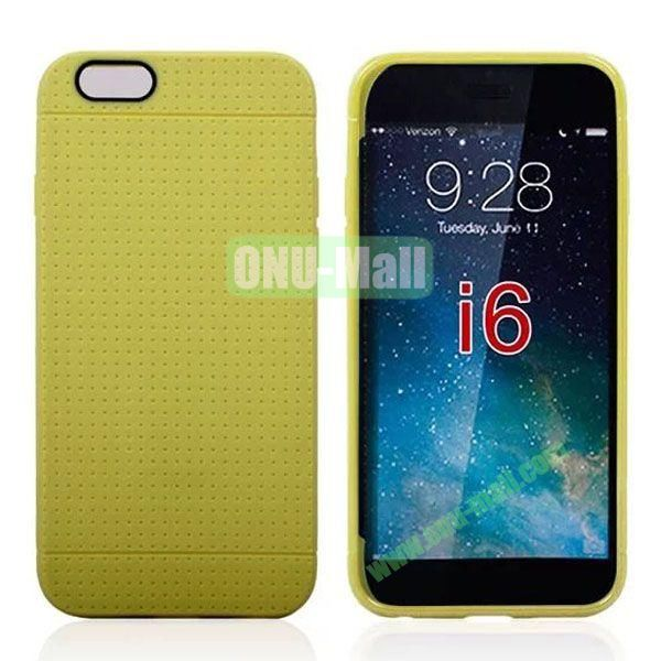 Hot Sale Honeycomb Holes Design TPU Case for iPhone 6 Plus 5.5 inch (Green)