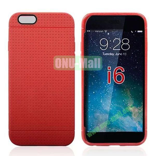 Hot Sale Honeycomb Holes Design TPU Case for iPhone 6 Plus 5.5 inch (Red)