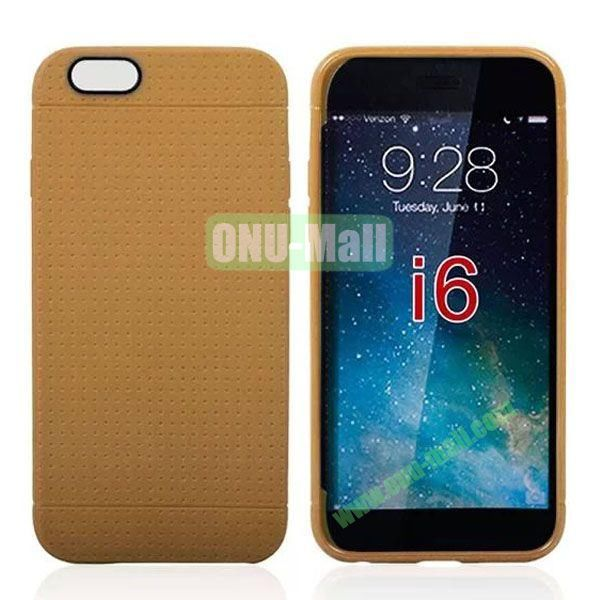 Hot Sale Honeycomb Holes Design TPU Case for iPhone 6 Plus 5.5 inch (Brown)